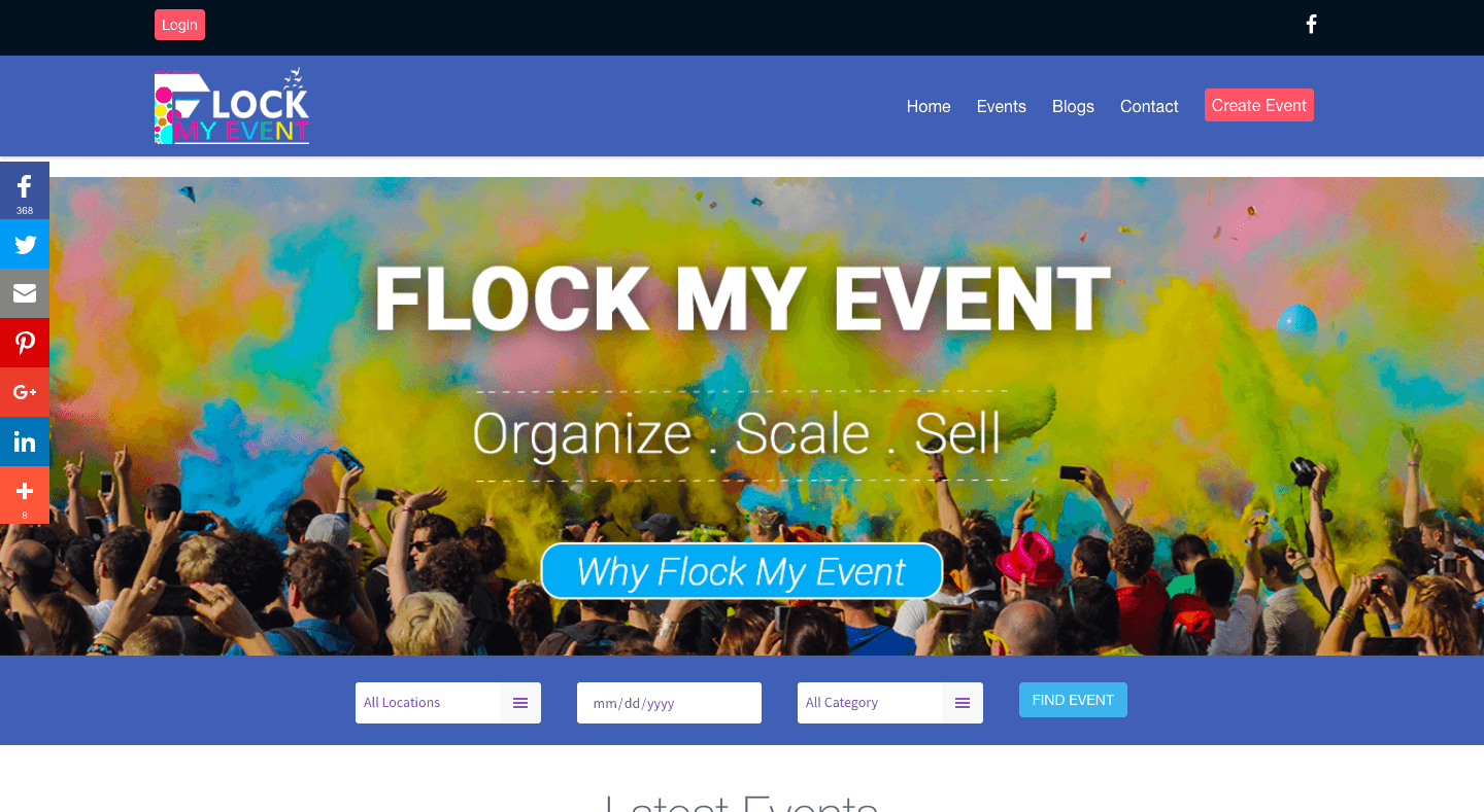 Flock My Event | Website Development