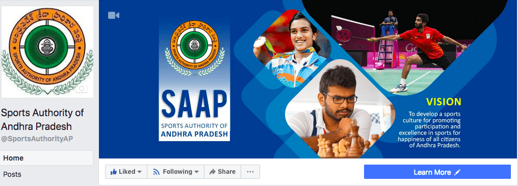 Sports Authority of Andhra Pradesh (SAAP) | Digital Marketing